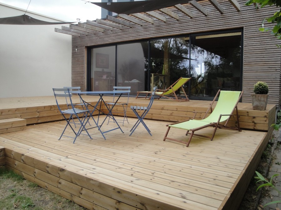 Terrasse sur sol stable à Nantes