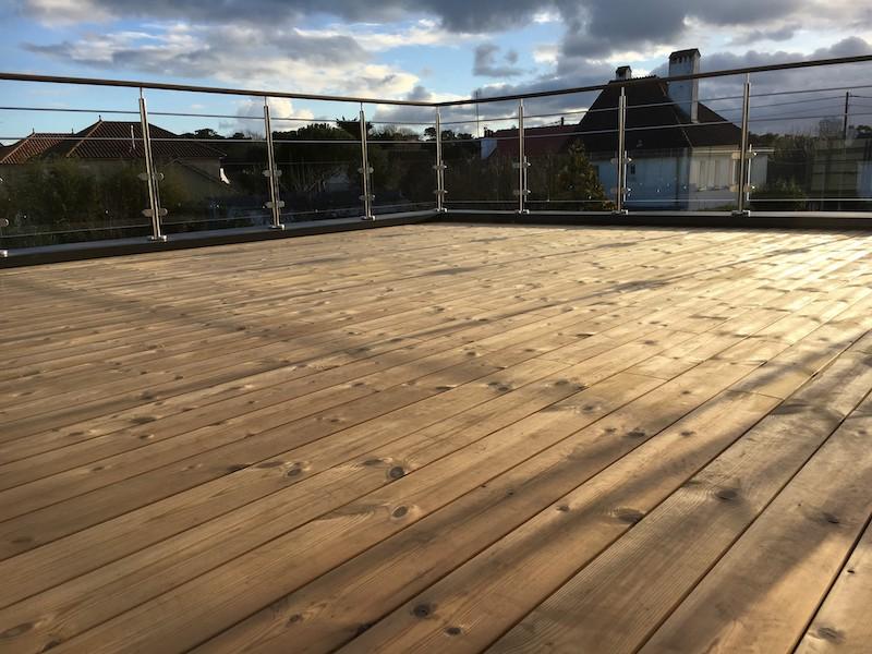 Terrasse sur toits plats à La Baule