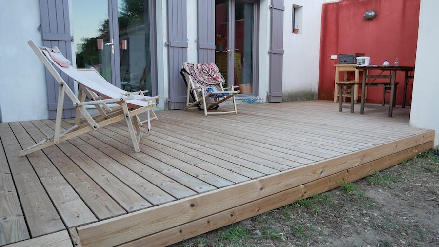 Pose terrasse à Noirmoutiers