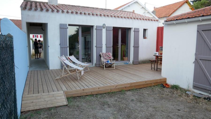 Remplacement de terrasse à Noirmoutier