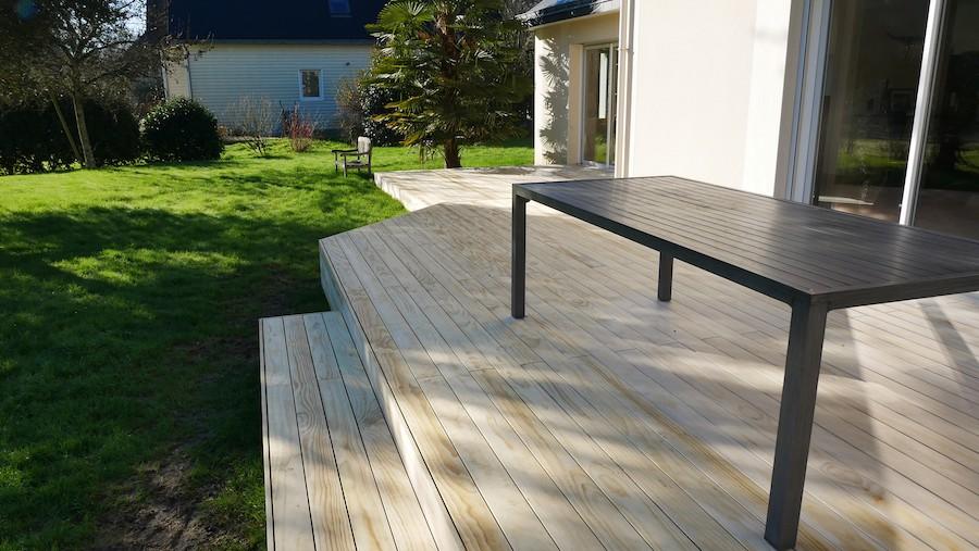 Double terrasses en bois à Sucé-sur-Erdre