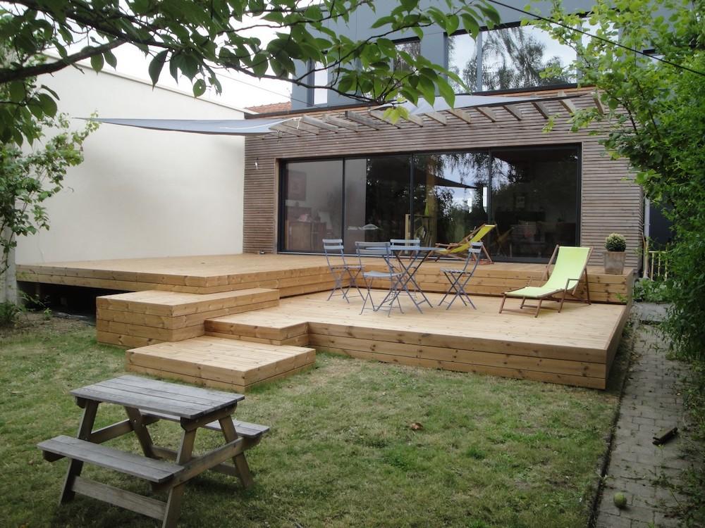 Installation de terrasse sur plusieurs niveaux