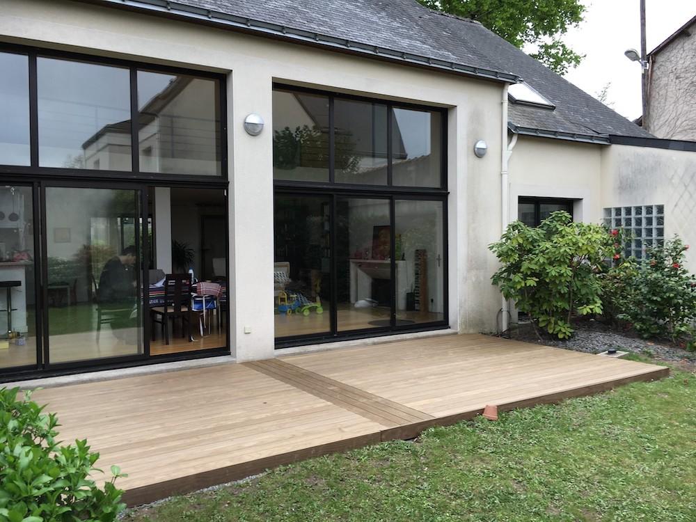Création de terrasse en bois extérieure