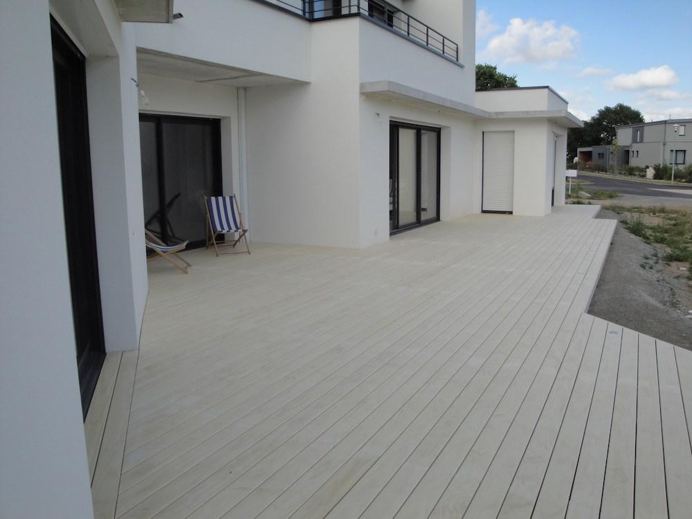 Création de terrasse sur sol nu