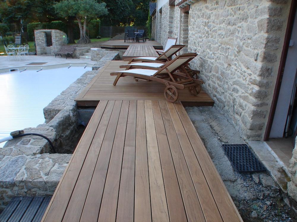 Installation de terrasse sur dalle béton