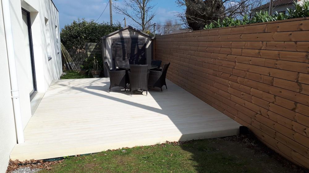Fabrication de terrasse en bois design