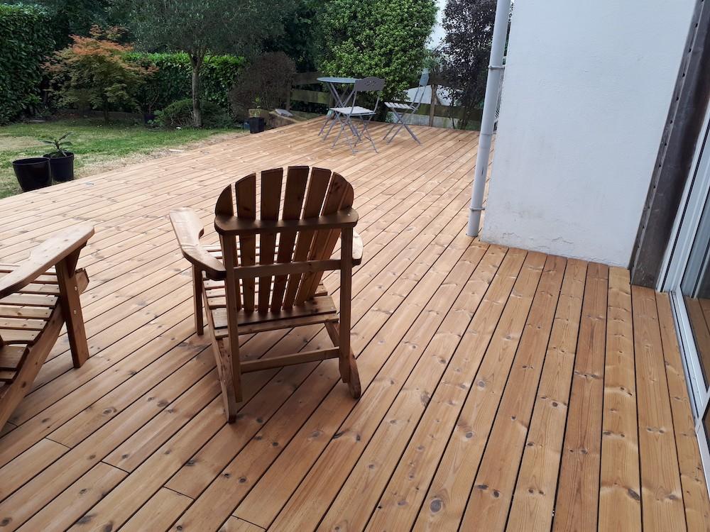 Installation de terrasse sans fondation