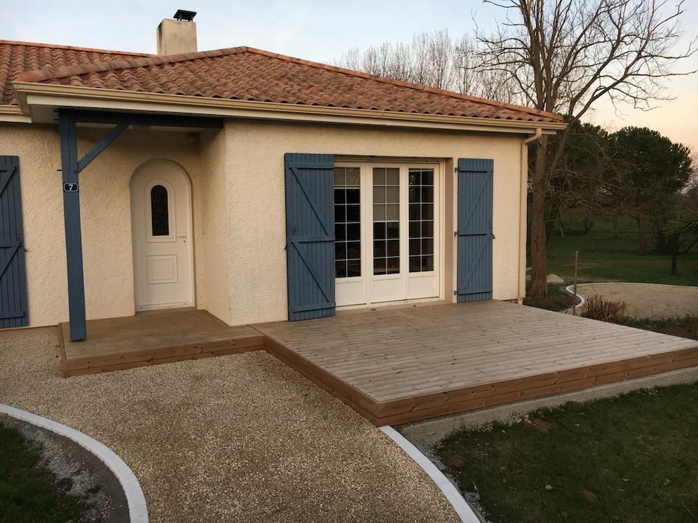 Création de terrasse pour une entrée de maison
