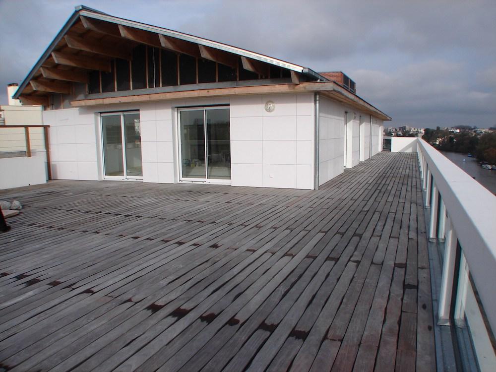 Toit-terrasse en Kébony à Nantes
