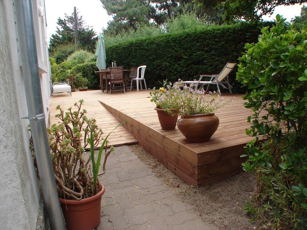 Installation de terrasse sur sol plat