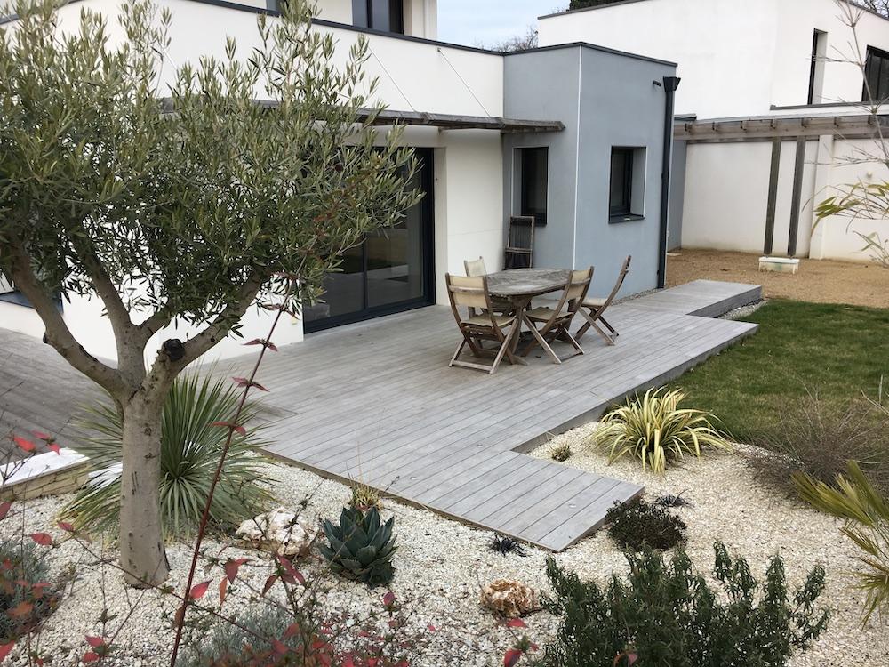 Création de terrasse sur dalle béton