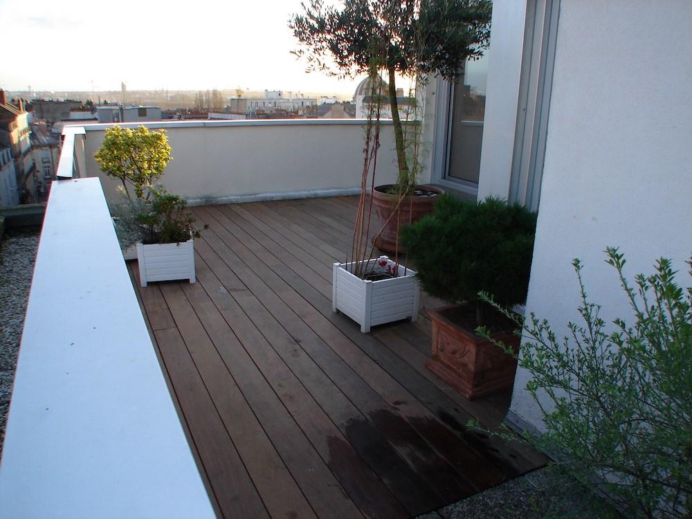 Terrasse sur toit étanche à Nantes