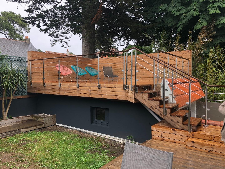 Terrasse sur étanchéité en Thermopin à La Baule