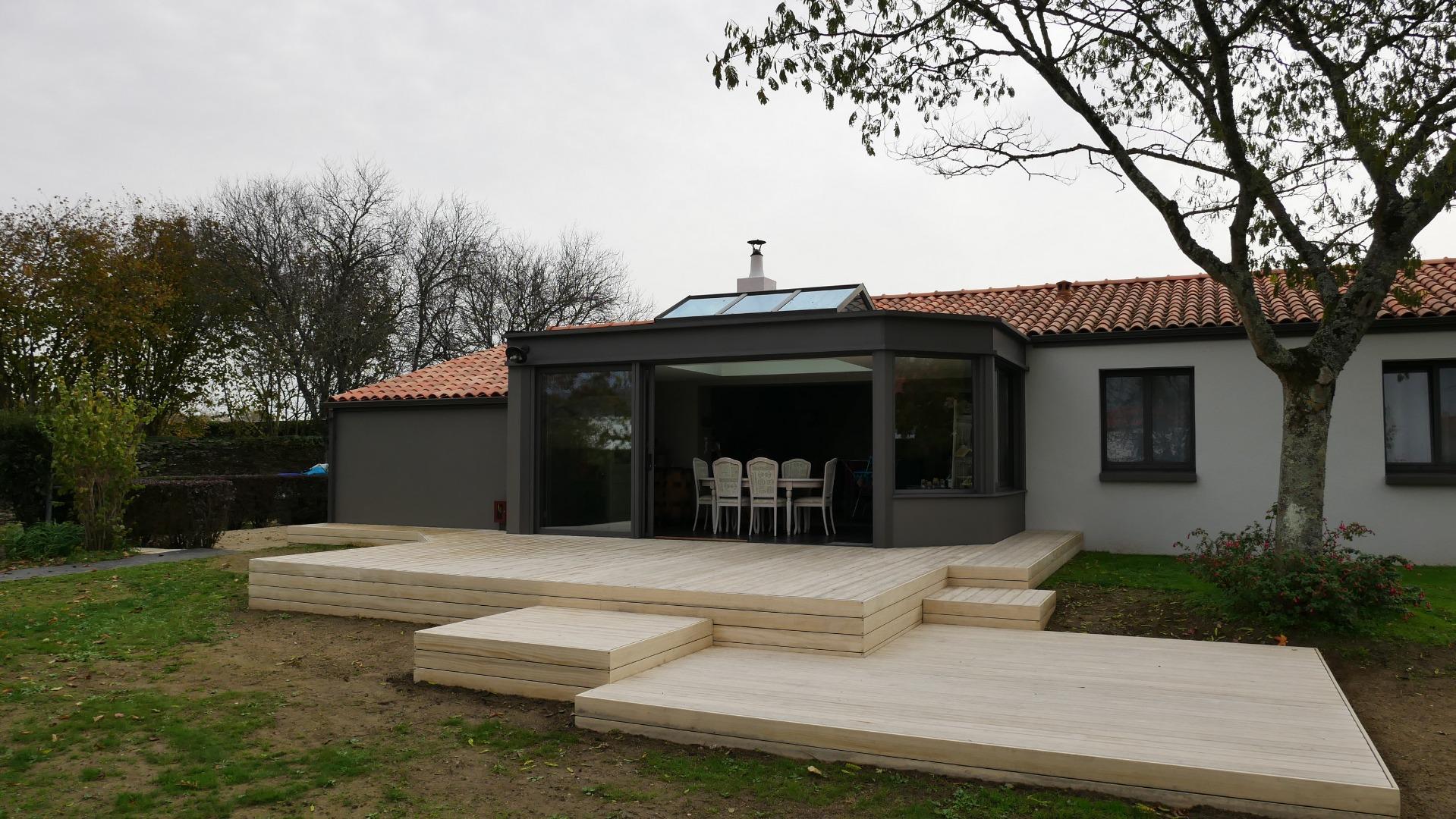 Terrasse en Accoya à Vertou