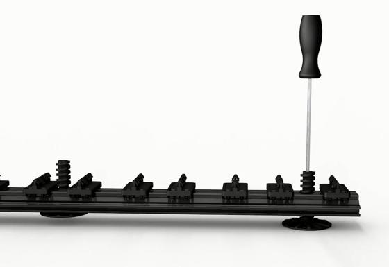 TOP RAILS® : rails aluminium avec plots de réglage intégrés